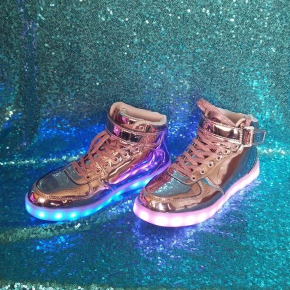 Metallic Pink Tennis Shoes | Poshmark